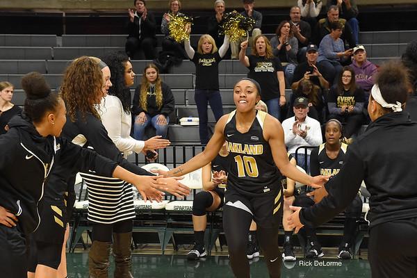 Oakland Women's Basketball vs MSU 11-13-17