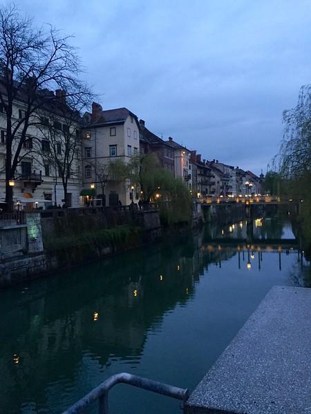 Ljubljana at sunset