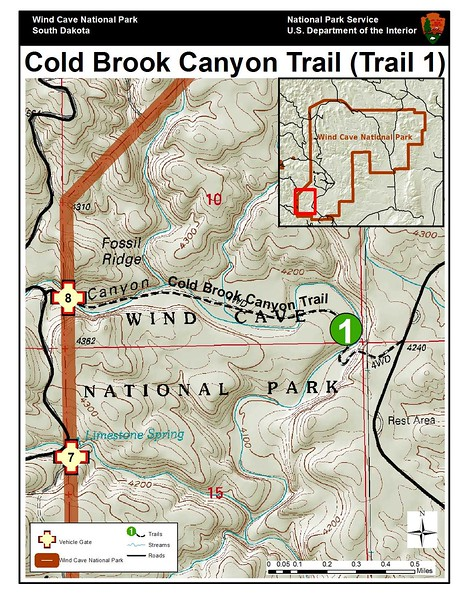 Wind Cave National Park (Cold Brook Canyon Trail)