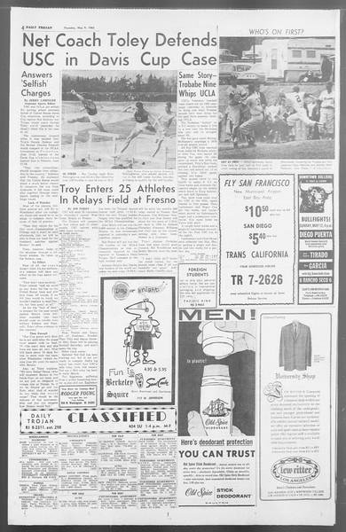 Daily Trojan, Vol. 54, No. 115, May 09, 1963
