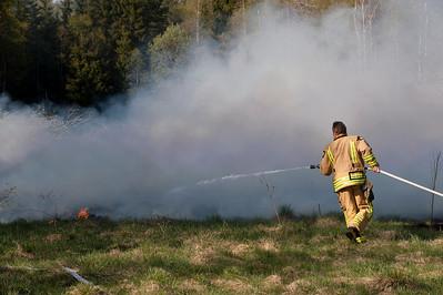 Gräsbrand i Älmhult väster om Lammhult