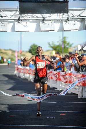 Santa Fe Thunder Half Marathon Finish