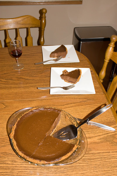 And for dessert...chocolate pumpkin pie