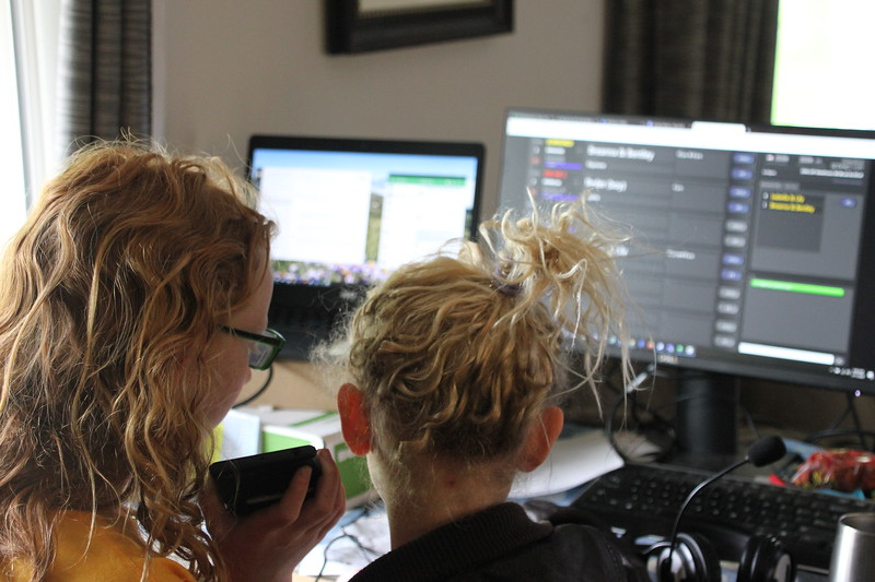 Izzy and Lily calling into Up to Date to talk about school and life during pandemic.