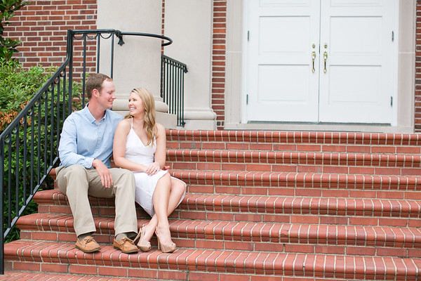 Lee + Emily | Downtown Conway Engagement Session