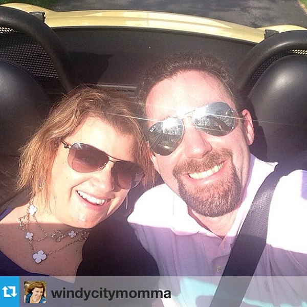 #Repost from @windycitymomma Hot date night with @akeats & our summer baby! #porsche #springfever