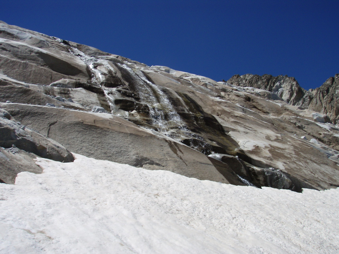 Melting glacier on Pico Aneto