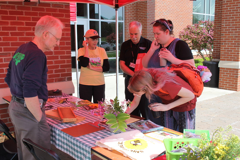 GWU hosts Earth Day. Students come out and teach student about key points about environment.