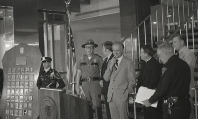Police News Conference with Mayor Hudnut, Circa 1978, Img. 5