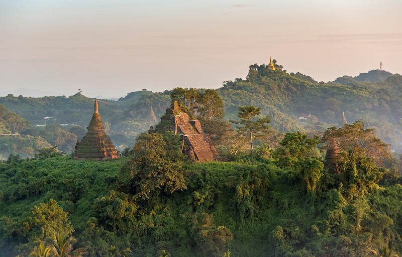 Sunset in Mrauk U, Myanmar