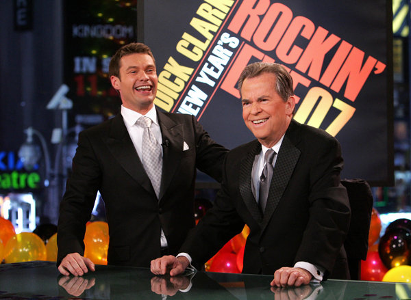 Description of . A file photo, Ryan Seacrest and Dick Clark, 2007.
