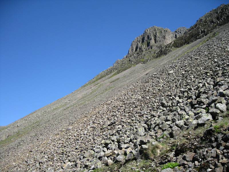 Crag and scree on Great Gable