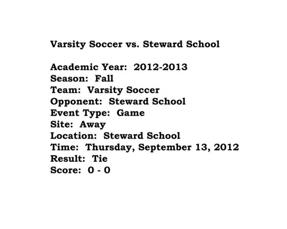 Prep Soccer vs Steward School