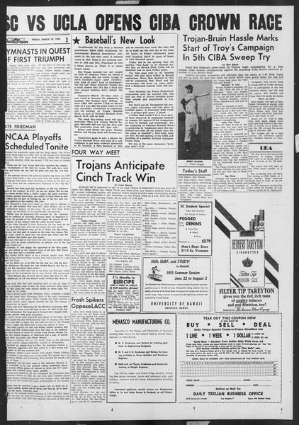 Daily Trojan, Vol. 46, No. 100, March 18, 1955