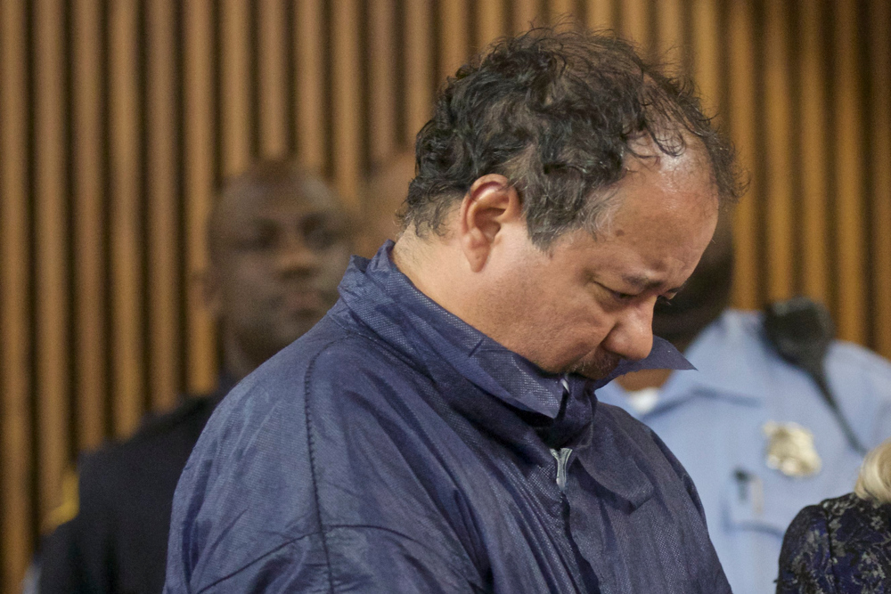 Description of . Ariel Castro appears in court for his initial appearance in Cleveland, Ohio, May 9, 2013. Castro, 52, a veteran school bus driver fired from his job last fall, was formally charged with kidnapping and raping the three women, who were rescued from his house on May 6 evening shortly before his arrest.  REUTERS/John Gress