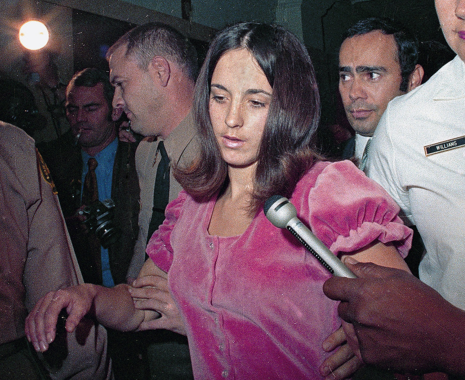 . In this 1969 file photo, Susan Atkins, is shown. Atkins was convicted of the 1969 cult killings of seven people, including pregnant actress Sharon Tate.   California parole officials on Tuesday, July 15, 2008 considered releasing Atkins, who is dying of brain cancer, from prison, but the governor and others said her decades-old crimes were too brutal for her to be shown such mercy.  (AP Photo)