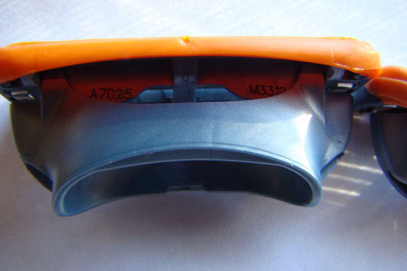 Real Gillette Fusion Power Blade  Notice: serial number on blade body when blade is rotated on hinge
