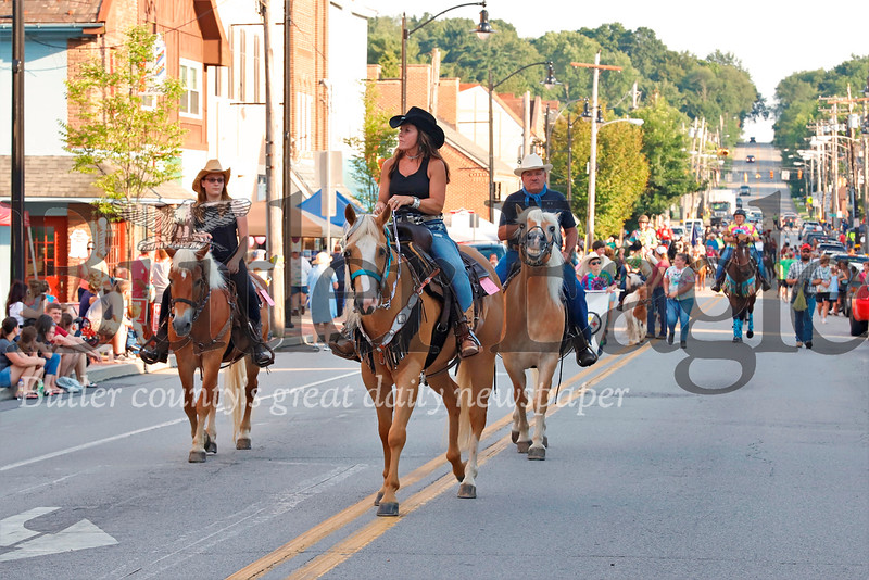 Horses of all shapes and sizes took to the streets of Zelienople Thursday evening for the annual Horse Parade. Seb Foltz/Butler Eagle