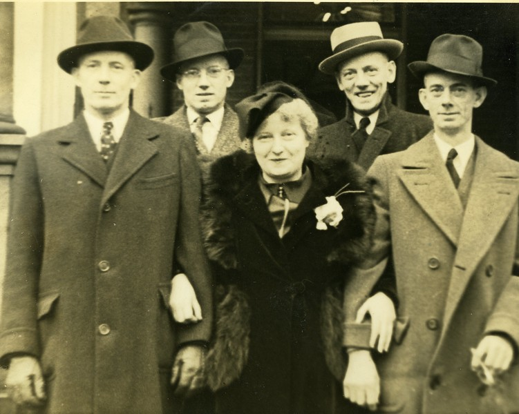 Mauree Lowden and her four brothers, Aubert Thomas, Hoyt and Joseph. December 28, 1937 Taken 317 W. 6th Ave. Columbus, Ohio