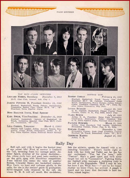WHS YEARBOOK PICS 1929-1961