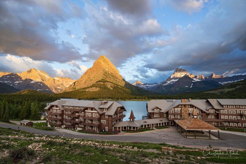 Many Glacier Inn, Glacier National Park.