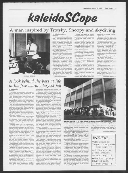 Daily Trojan, Vol. 100, No. 37, March 05, 1986