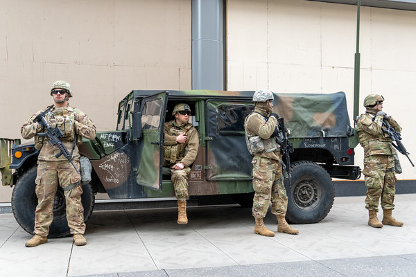 2021 04 20 National Guard Nicollet Mall Downtown