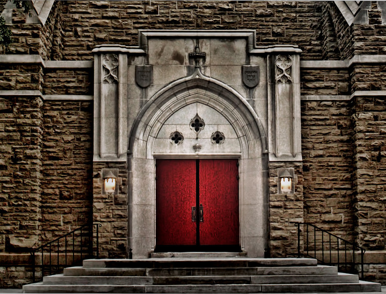 Red Doors of Christ Episcopal Church - Little Rock