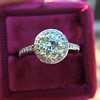 1.19ctw Old European Cut Diamond Halo Ring by A Jaffe 24