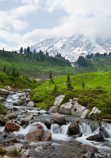 Waterfall, Mt Rainier, Washington
