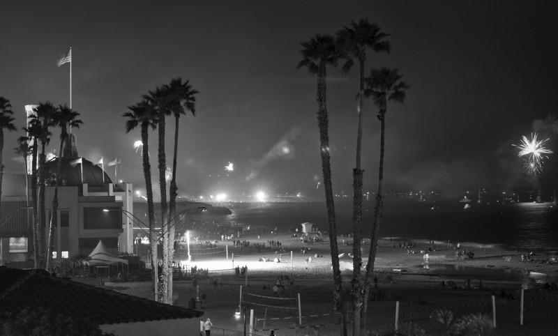 July 4th, Santa Cruz.  Fireworks ban in effect.