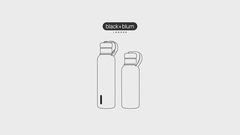 Insulated Bottle and Insulated Bottle Large Black Blum