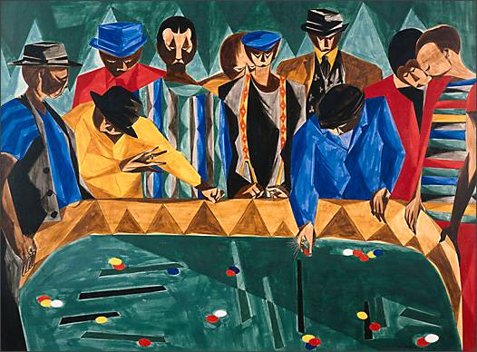 "Jacob Lawrence, ""A Game of Chance,"" 1954"
