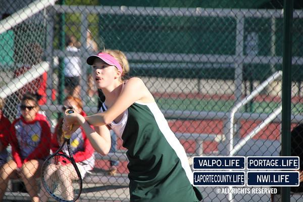 VHS Girls Tennis vs Portage 2012