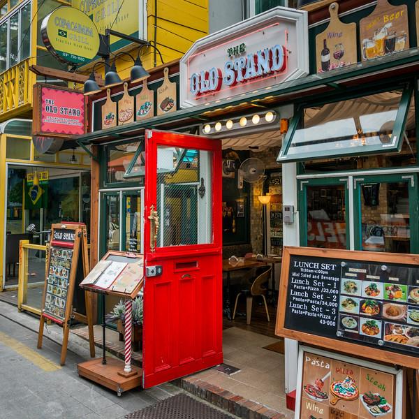 Fa�ade of restaurant, Seoul, South Korea