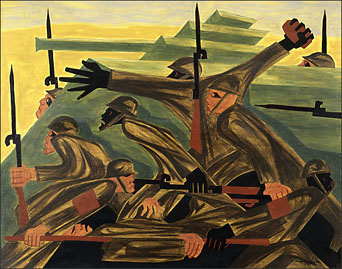 "Jacob Lawrence, ""War No. 8,"" 1947"