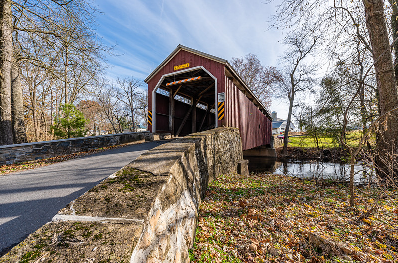 Zook's Mill Covered Bridge Spans Cocalico Creek