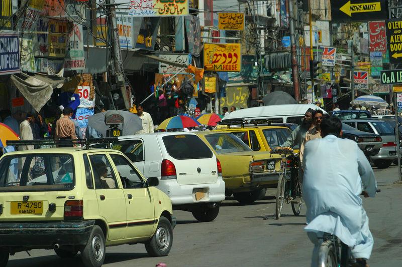 Crowded streets in Rawalpindi