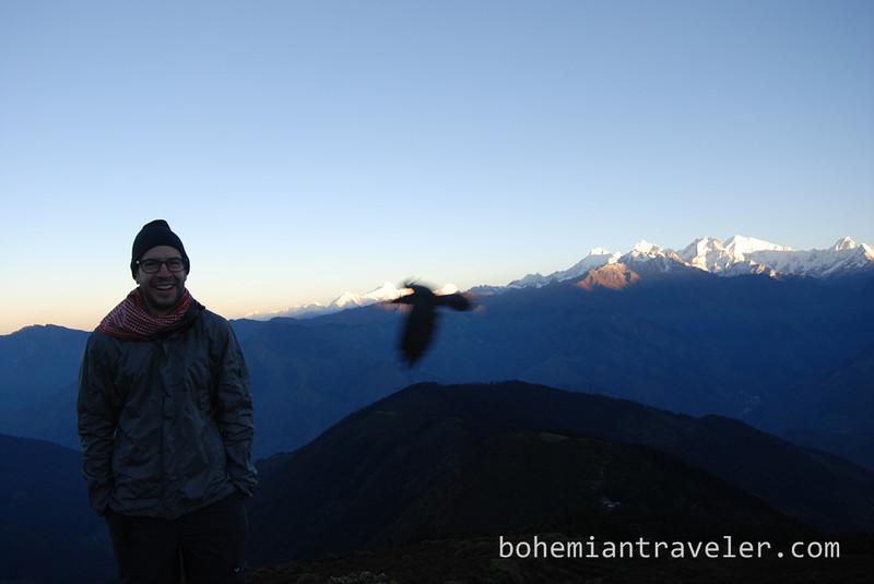 Stephen at sunrise from Laurebina.jpg