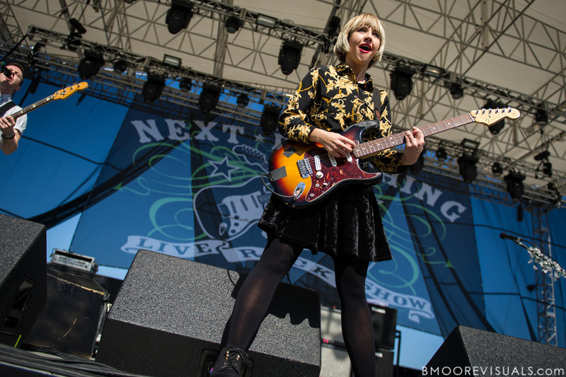Ritzy Bryan of The Joy Formidable performs on December 1, 2012 during 97X Next Big Thing at Vinoy Park in St. Petersburg, Florida