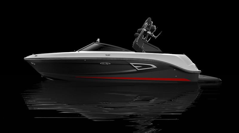 Black Full Color Hull w/ Rally Red Waterline Gel