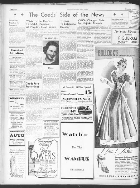 Daily Trojan, Vol. 30, No. 39, November 10, 1938