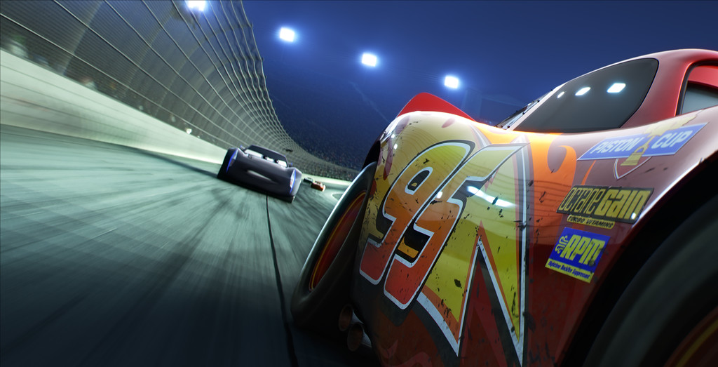 ". Advances in software have led to more elaborate uses of light in ""Cars 3,\"" says Michael Comet, a Northeast Ohio native who was a character supervisor on the movie. The movie is in theaters June 16. (Disney-Pixar)"