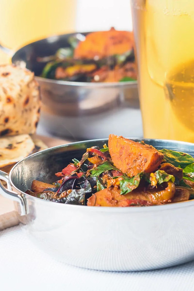 Saag Aloo - Indian vegan dishes