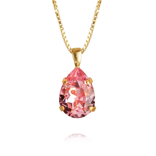 Mini Drop Necklace / Light Rose