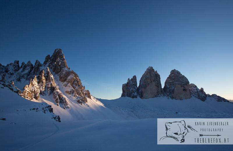 Sextener Dolomites in Winter