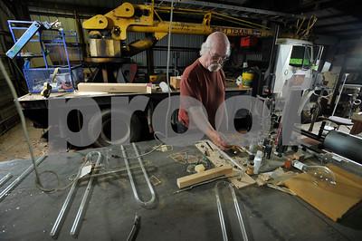 5/6/15 Longview Neon Artist Tim Reardon by Andrew D. Brosig