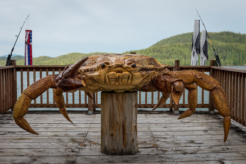 Carved Crab at George Inlet Lodge