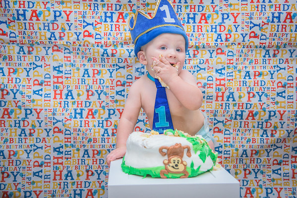 Carson's First Birthday Photoshoot