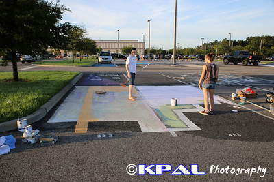 Class of 2014 Sr. Parking Spaces Painting